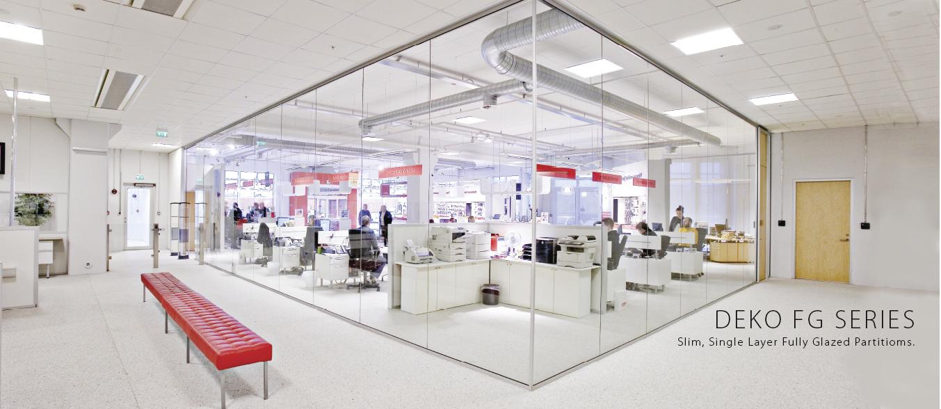Deko, Partition, Workspace, Glass