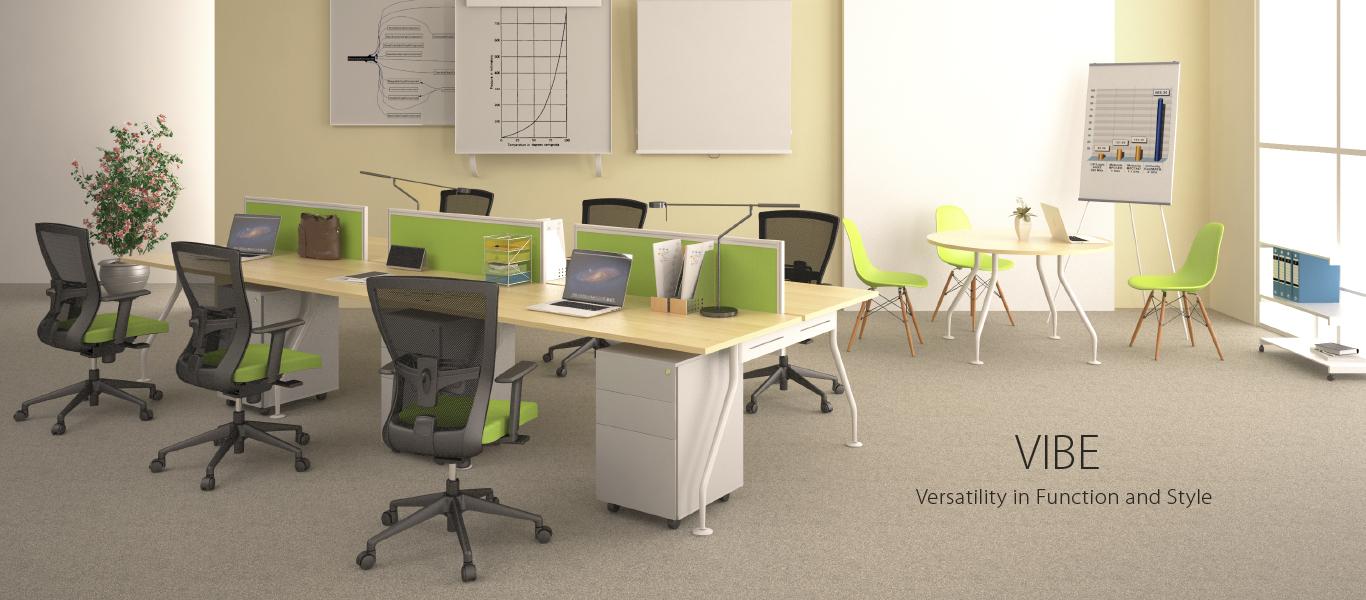 Vibe, Meja Kantor, Kursi Kantor, workspace